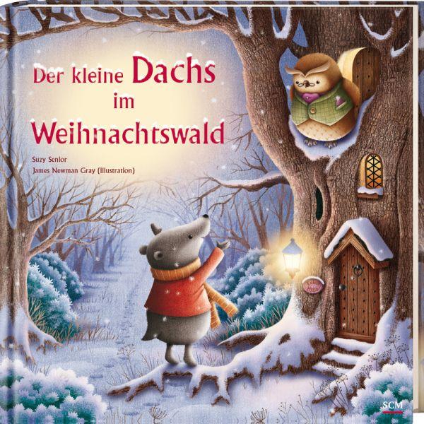 Der kleine Dachs im Weihnachtswald