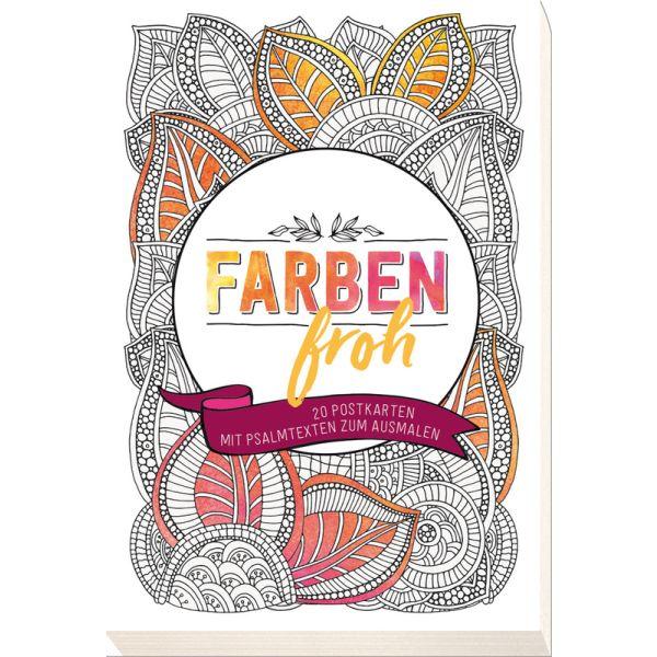 Farbenfroh - 20 Postkarten mit Psalmtexten zum Ausmalen