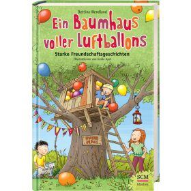 Ein Baumhaus voller Luftballons